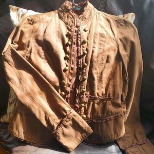 Feminine military style jacket